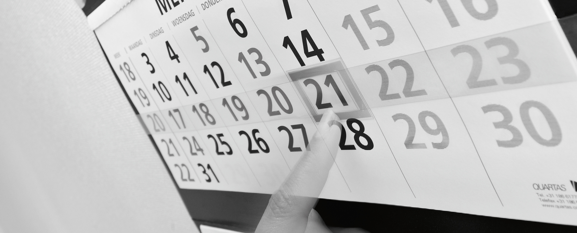 zakelijke wandkalender
