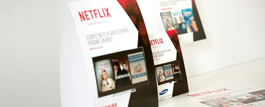 POS materiaal Netflix